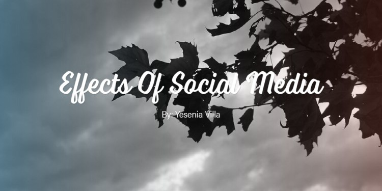 Effects Of Social Media
