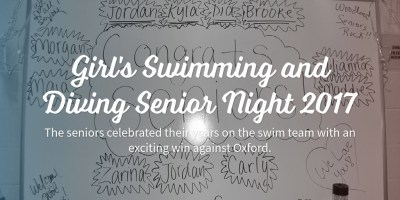 Girl's Swimming and Diving Senior Night 2017