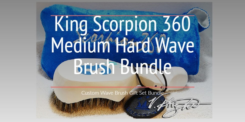 King Scorpion 360 Medium Hard Wave Brush Bundle