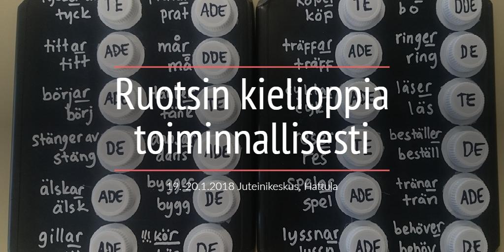 Ruotsin kielioppia toiminnallisesti