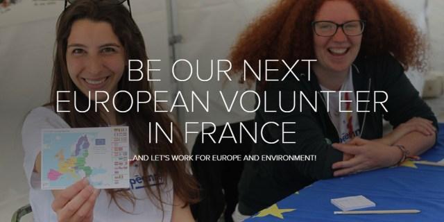 BE OUR NEXT EUROPEAN VOLUNTEER IN FRANCE