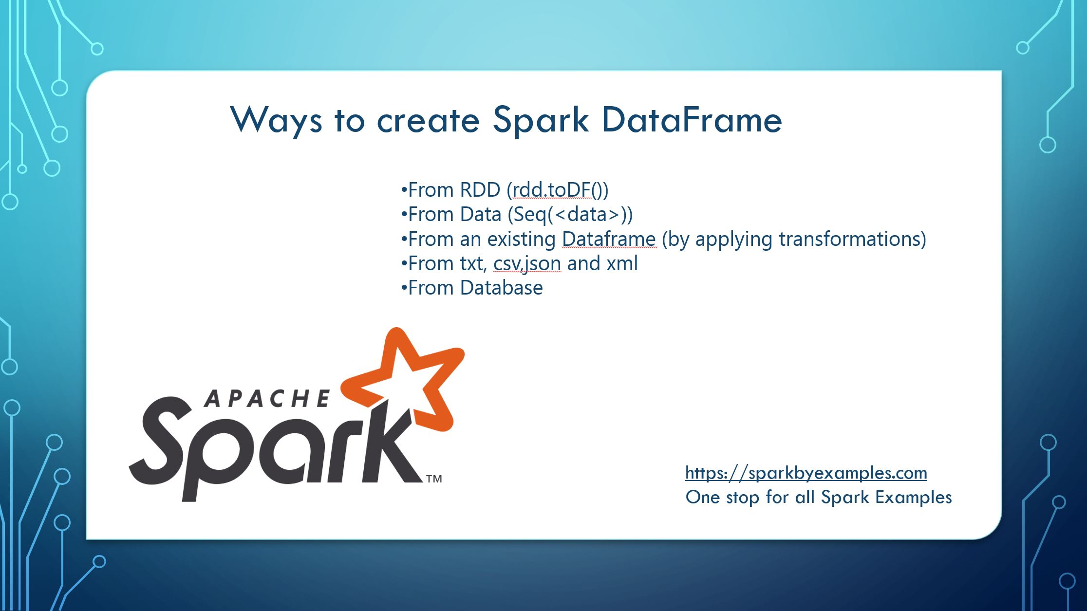 Different ways to Create DataFrame in Spark — Spark by