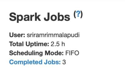 Spark Job UI
