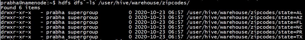 hive show partitions HDFS