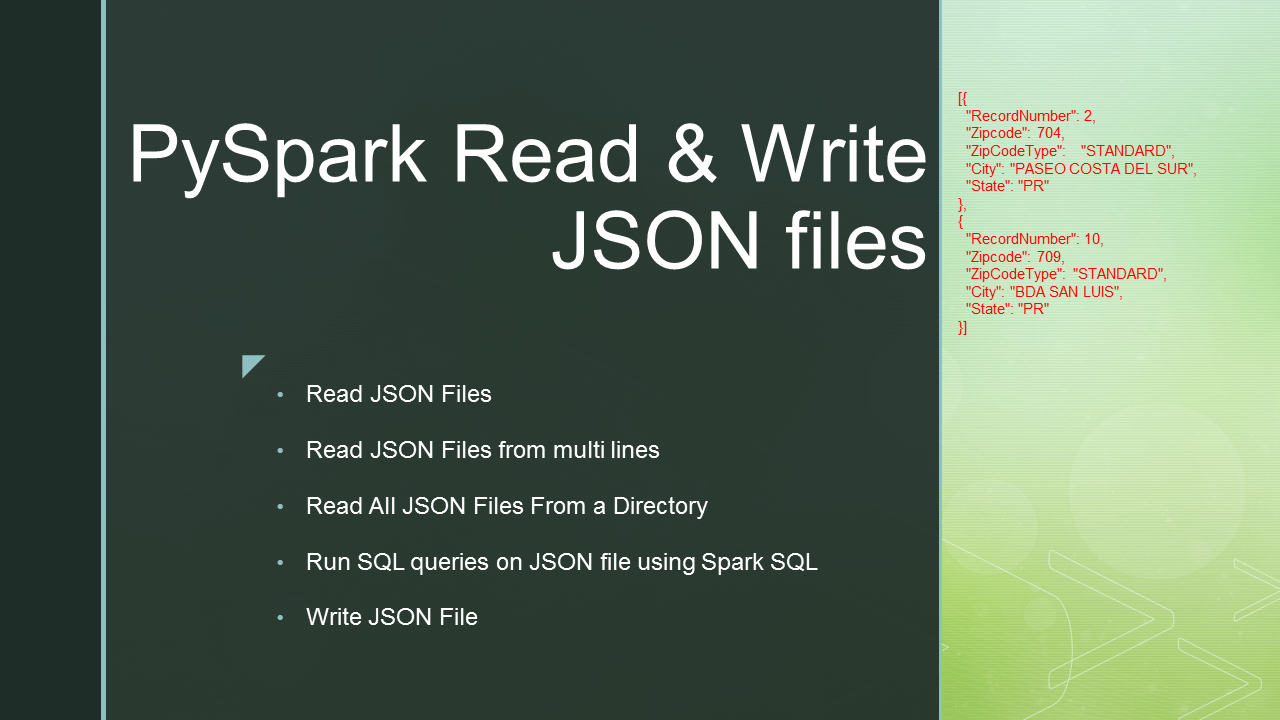 PySpark Read JSON file into DataFrame