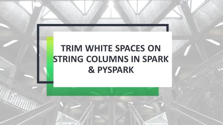 Spark Trim String Column on DataFrame