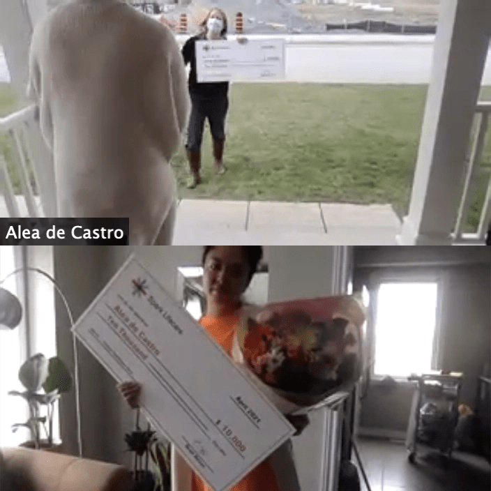 Alea de Castro Winner of the Ontario Healthcare Hero Contest from Spark Lifecare