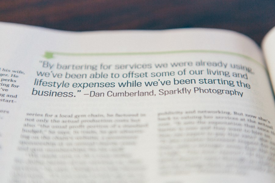 Entrepreneur magazine february 2014 sparkfly photography