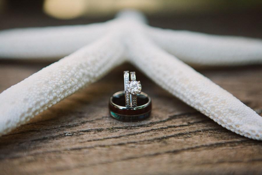 starfish wedding rings
