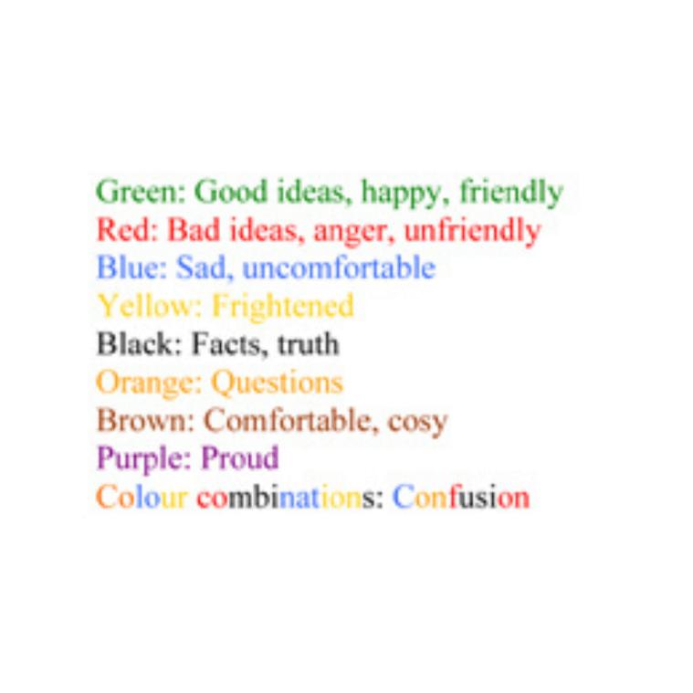 Comic Strip Conversations Colours