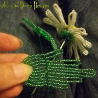 French Beaded Flowers: making the leaves