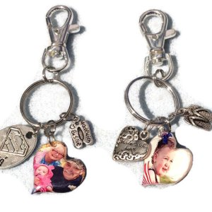 free form heart keychains