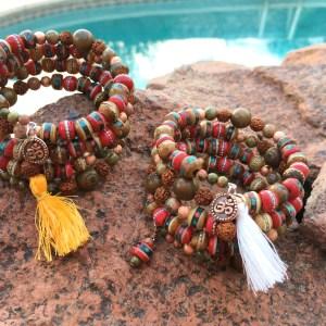 Yak Bone Mala Bracelets
