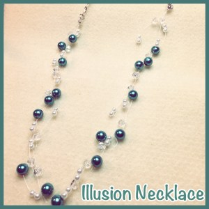 Floating Glass Pearl & Crystal Necklace