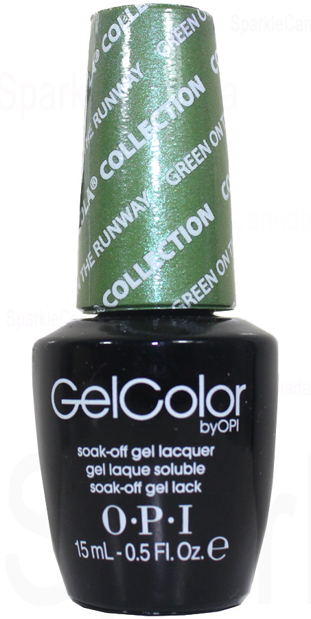 OPI Gel Color Green On The Runway By OPI Gel Color GCC18 Sparkle Canada One Nail Polish Place