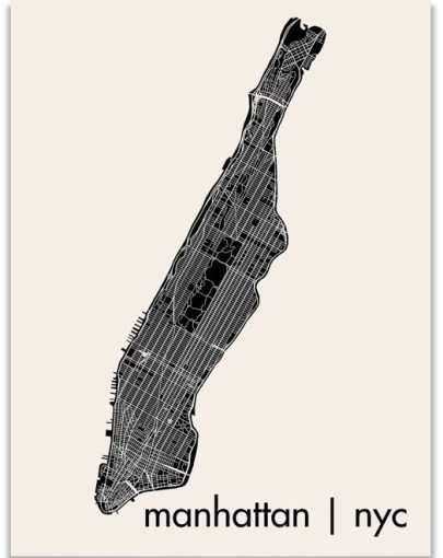 Modern NYC Map