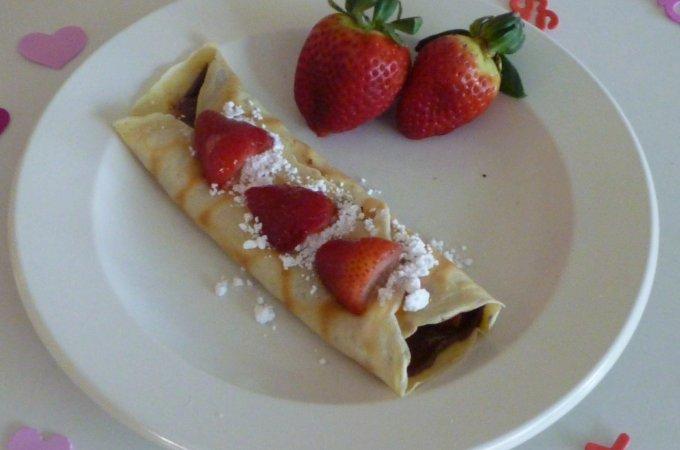 Valentine's Breakfast Crepes