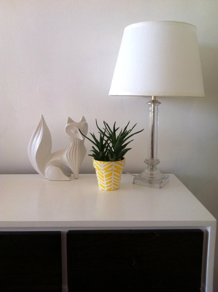 Painted Herringbone Planter