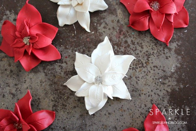 Make Sculpted Clay Poinsettia Ornaments