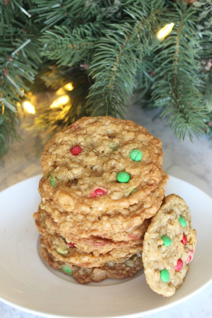 These cookies are soft, chewy and crunchy all at the same time! Make these holiday ranger cookies for your holiday baking!