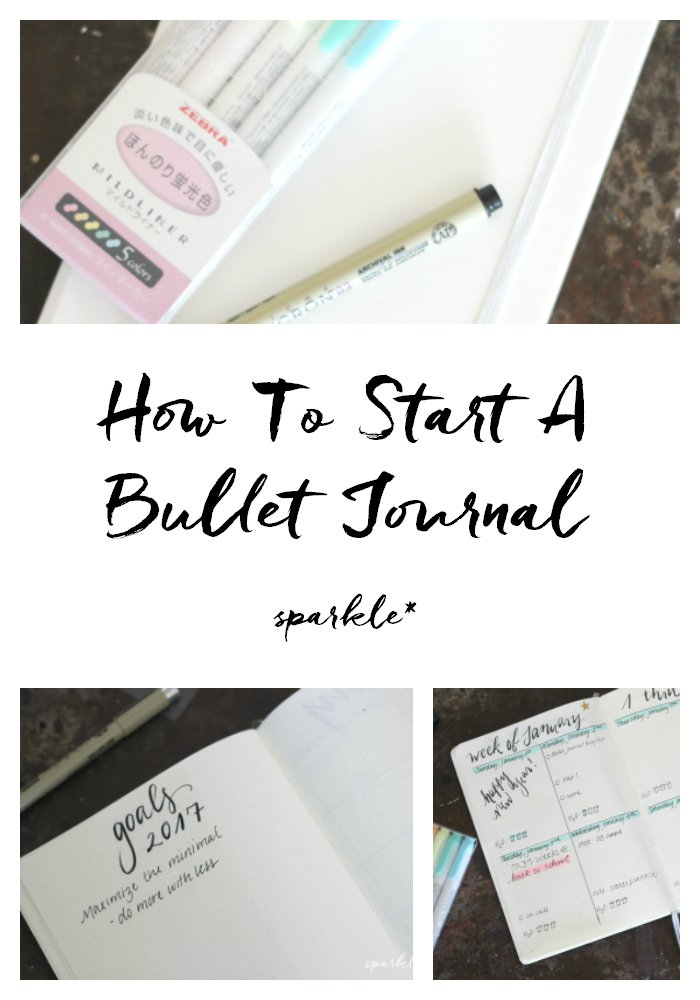 How to start a bullet journal - the basics!