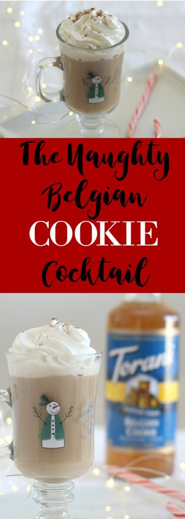 Msg 4 21+ The Naughty Belgian Cookie Coffee...why so naughty? Because it has vodka and Irish Cream liqueur! #AToraniHoliday #ad