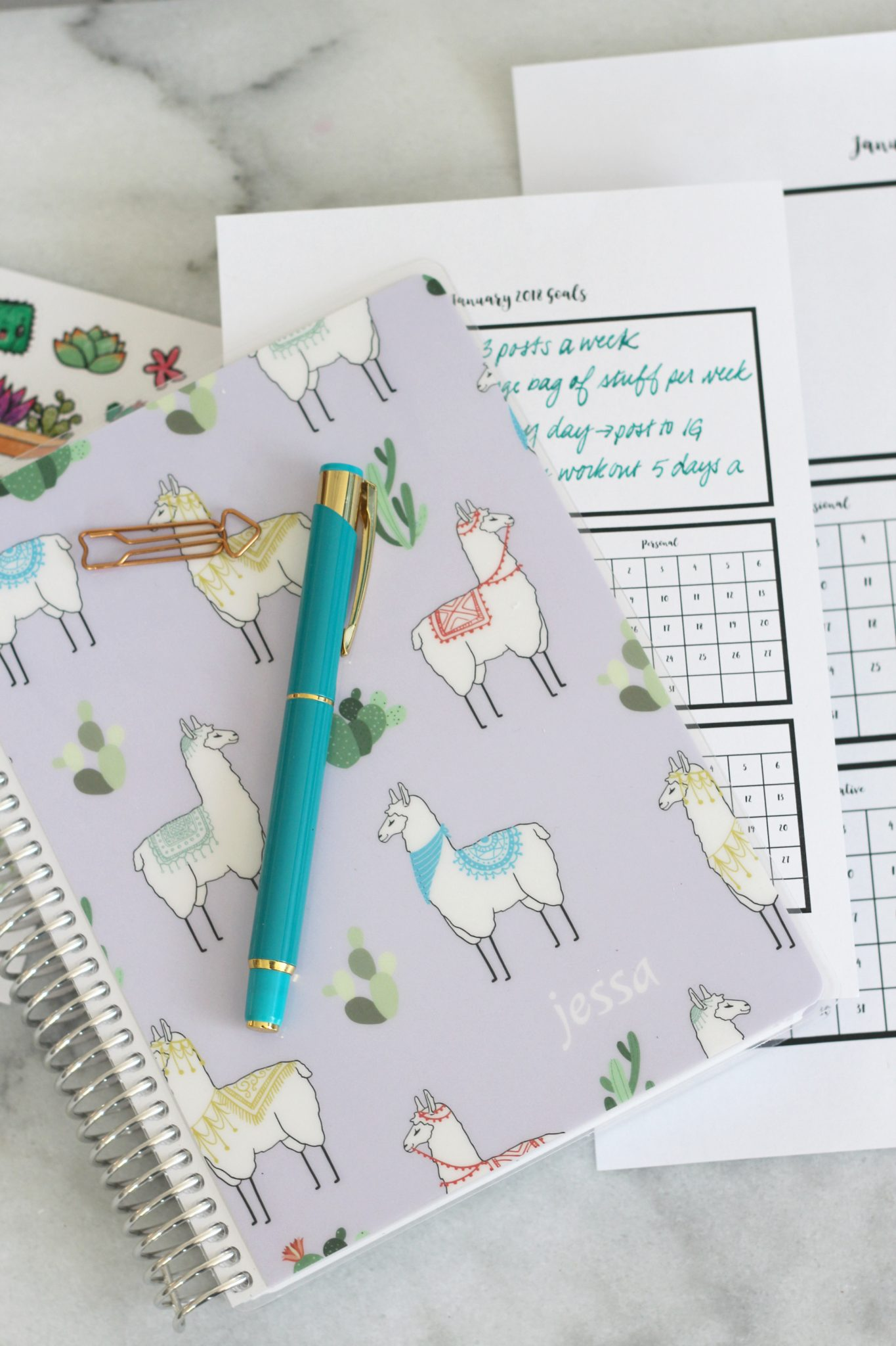 January Goal Tracker Printable For Planners Sparkle Living Blog