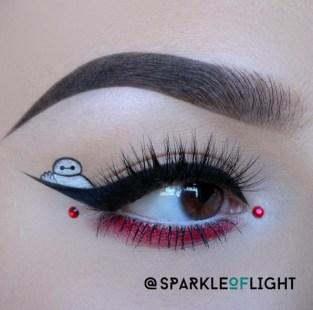 sparkleoflight baymax big hero 6 makeup disney house of lashes boudoir false lashes