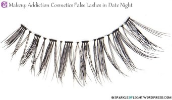 sparkleoflight makeup addiction false lashes date night