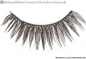 sparkleoflight makeup addiction false lashes sassy lady