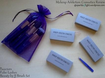 sparkleoflight makeup addiction tweezers hair lashes false reviews beauty by jj brushes set