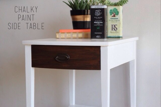 Modernize A Vintage Side Table With Americana Decor Chalky