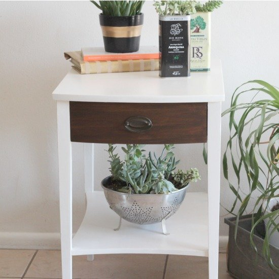 Chalky Finish Side Table