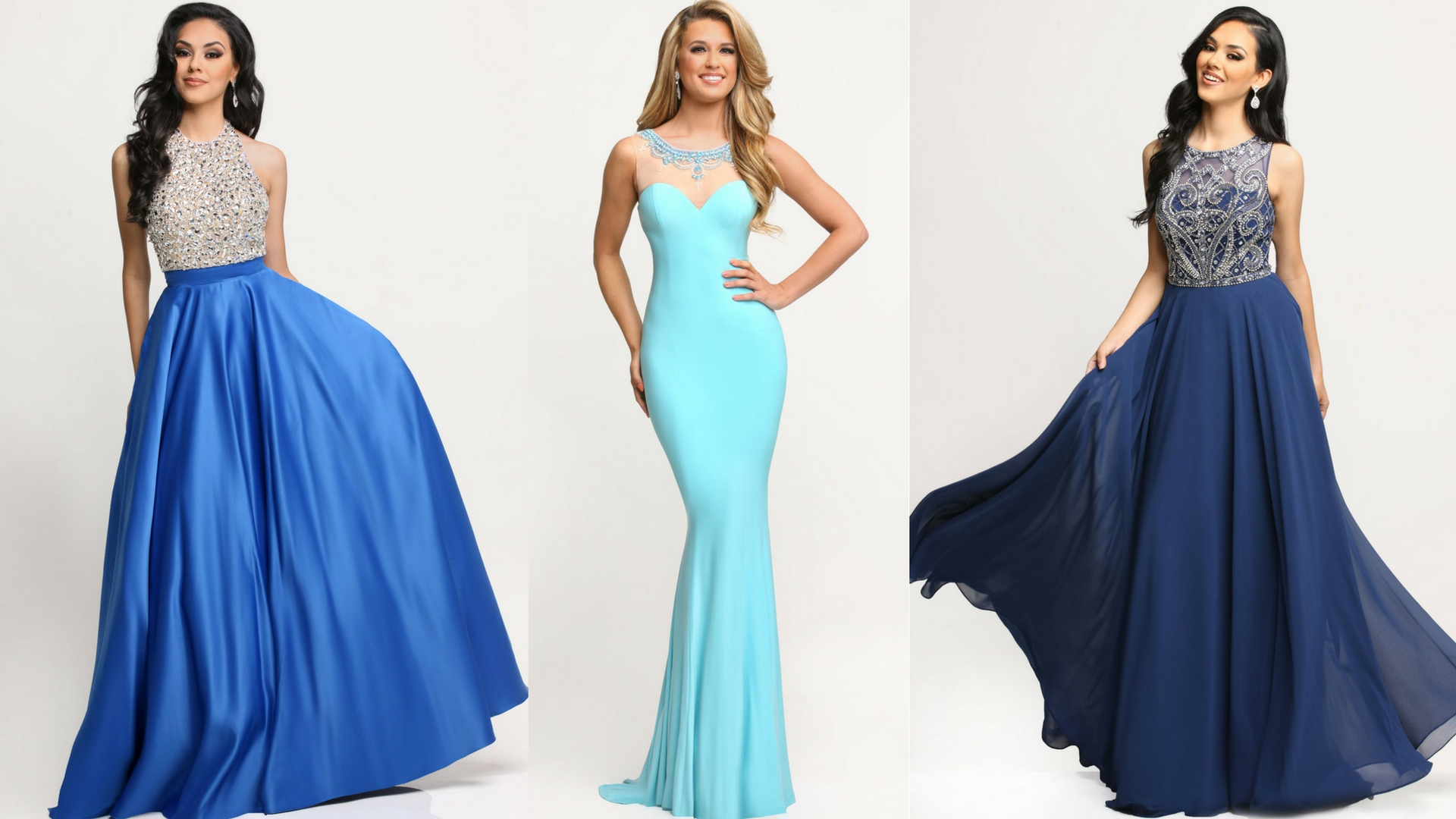 Beautiful in Blue: 9 Navy & Turquoise Gowns for Prom 2017 - Sparkle ...