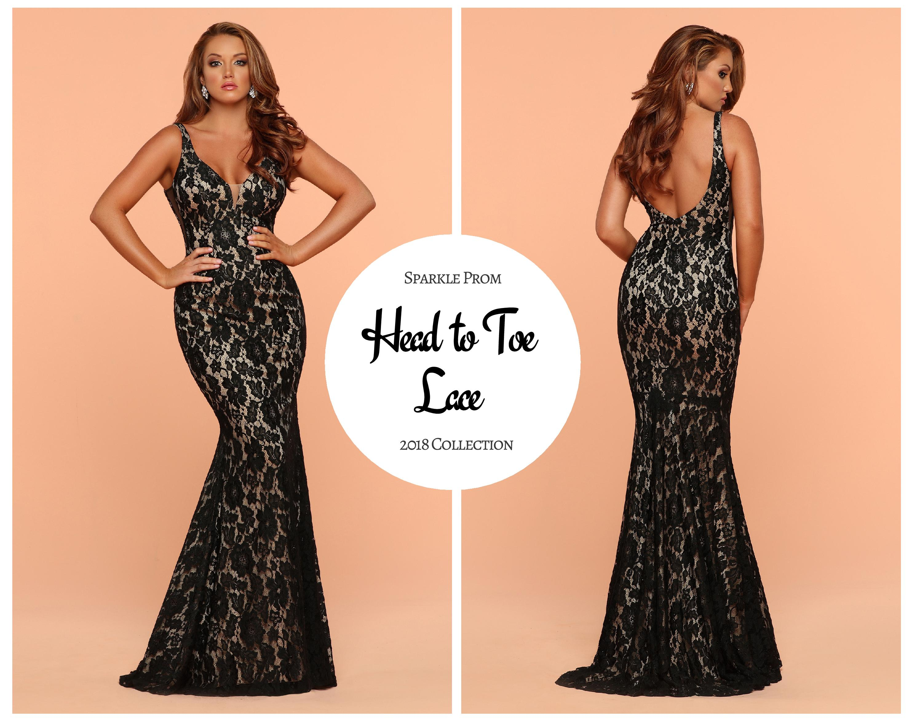 NEW! 2018 Sparkle Prom Collection: Head-to-Toe Lace Prom Gowns