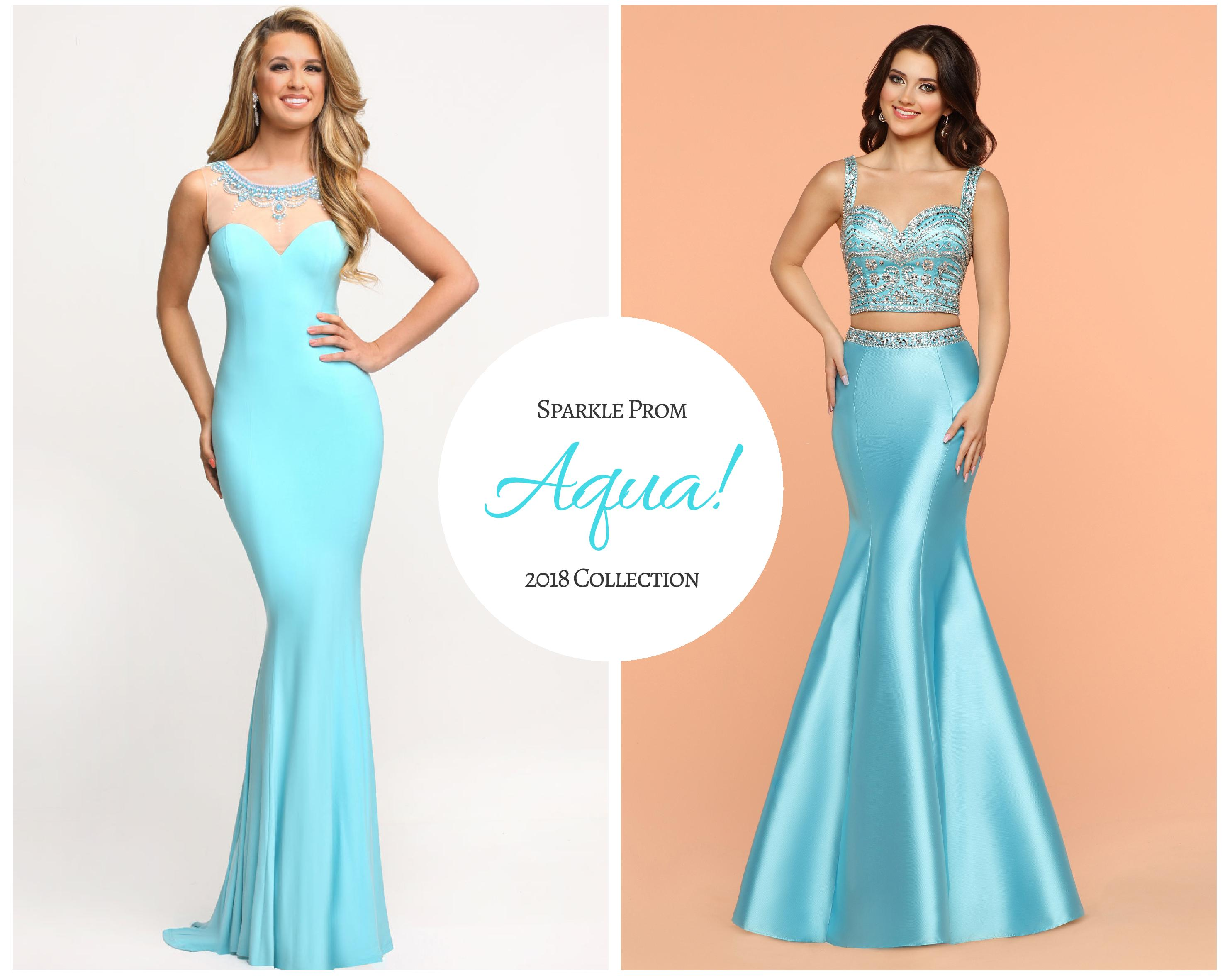 2018 Sparkle Prom Girl Color Collection: Bright Turquoise & Soft Aqua