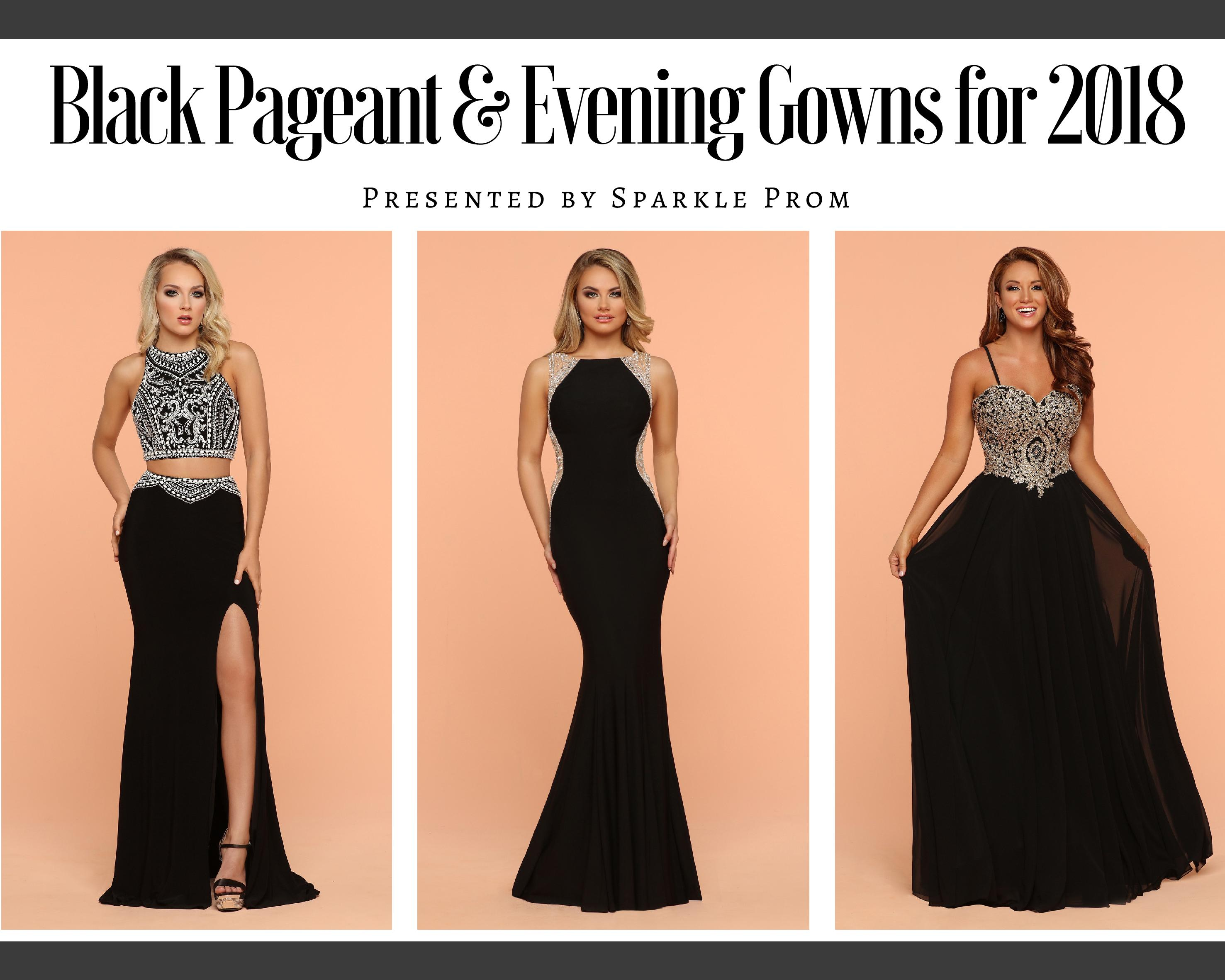 Black Pageant & Long Evening Gowns for 2018 - Sparkle Prom Fashion Blog