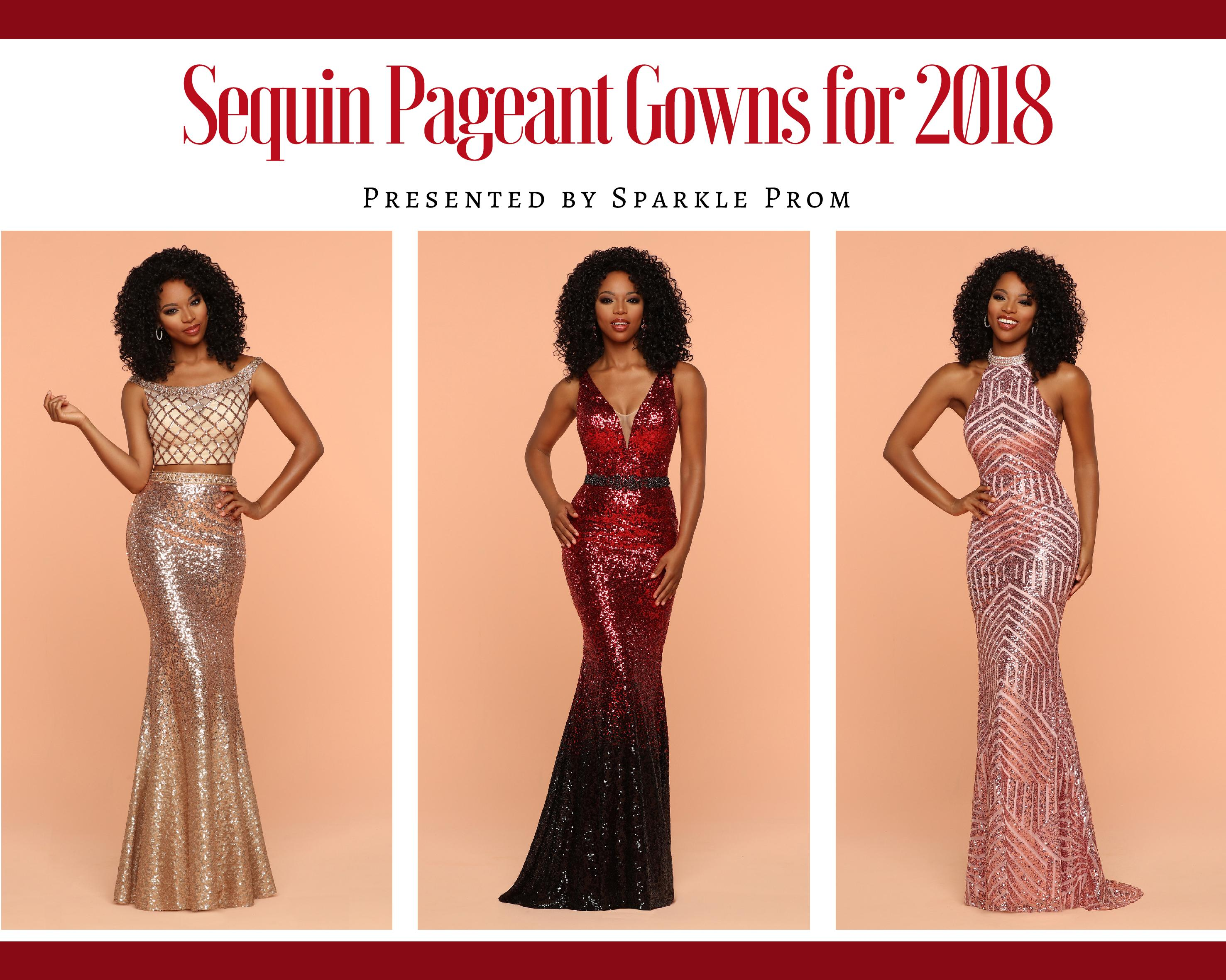 2018 Sequin Pageant Gown Collection - Sparkle Prom Fashion Blog