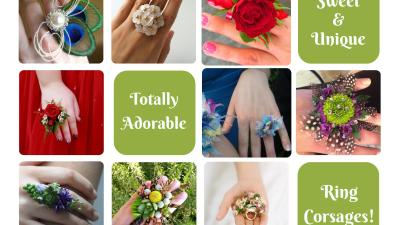 Prom Ring Finger Corsage Ideas 2021 – Sparkle Prom Fashion Blog