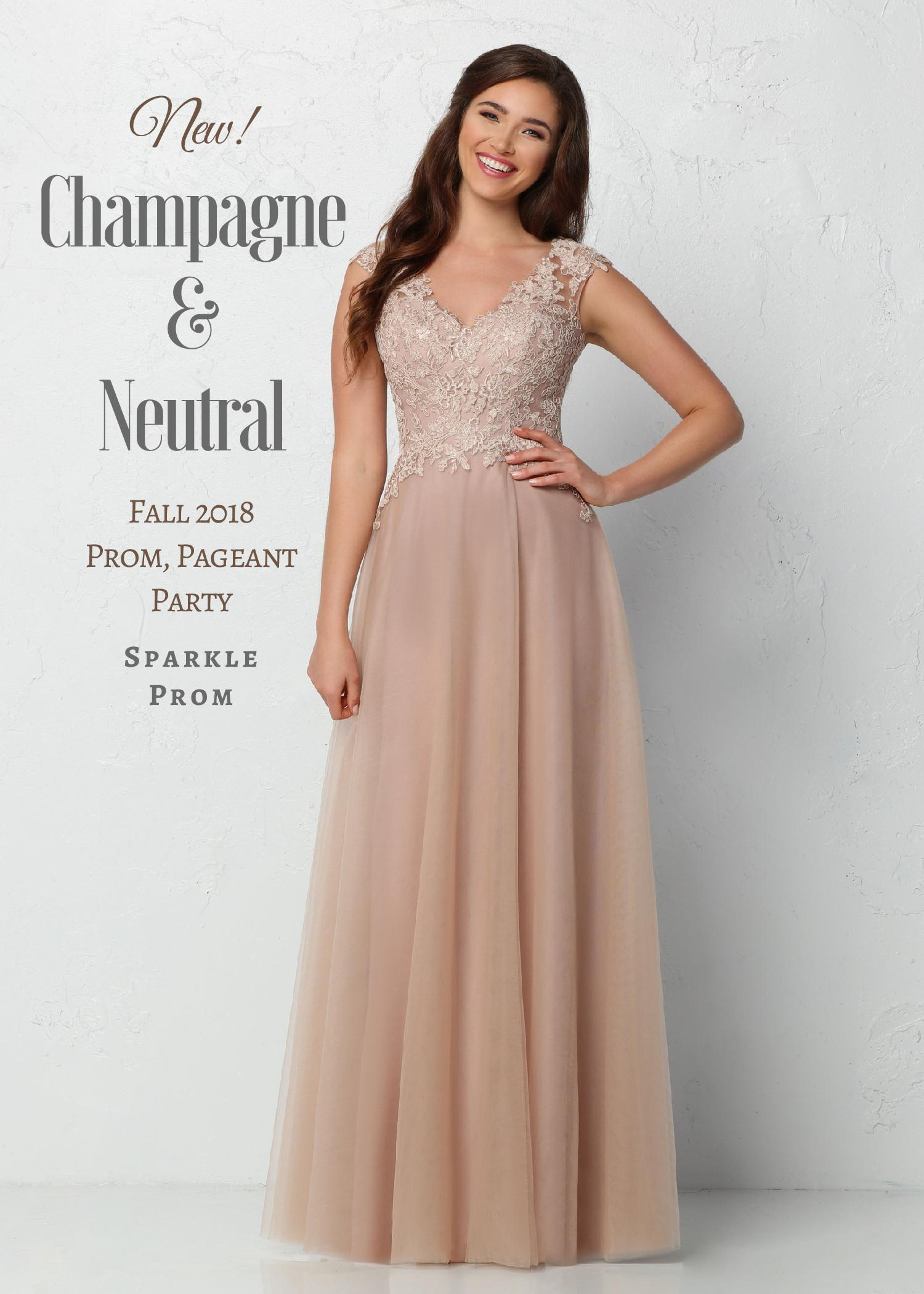New! 2018 Long Champagne & Neutral Prom/Party Dresses – Sparkle Prom Blog