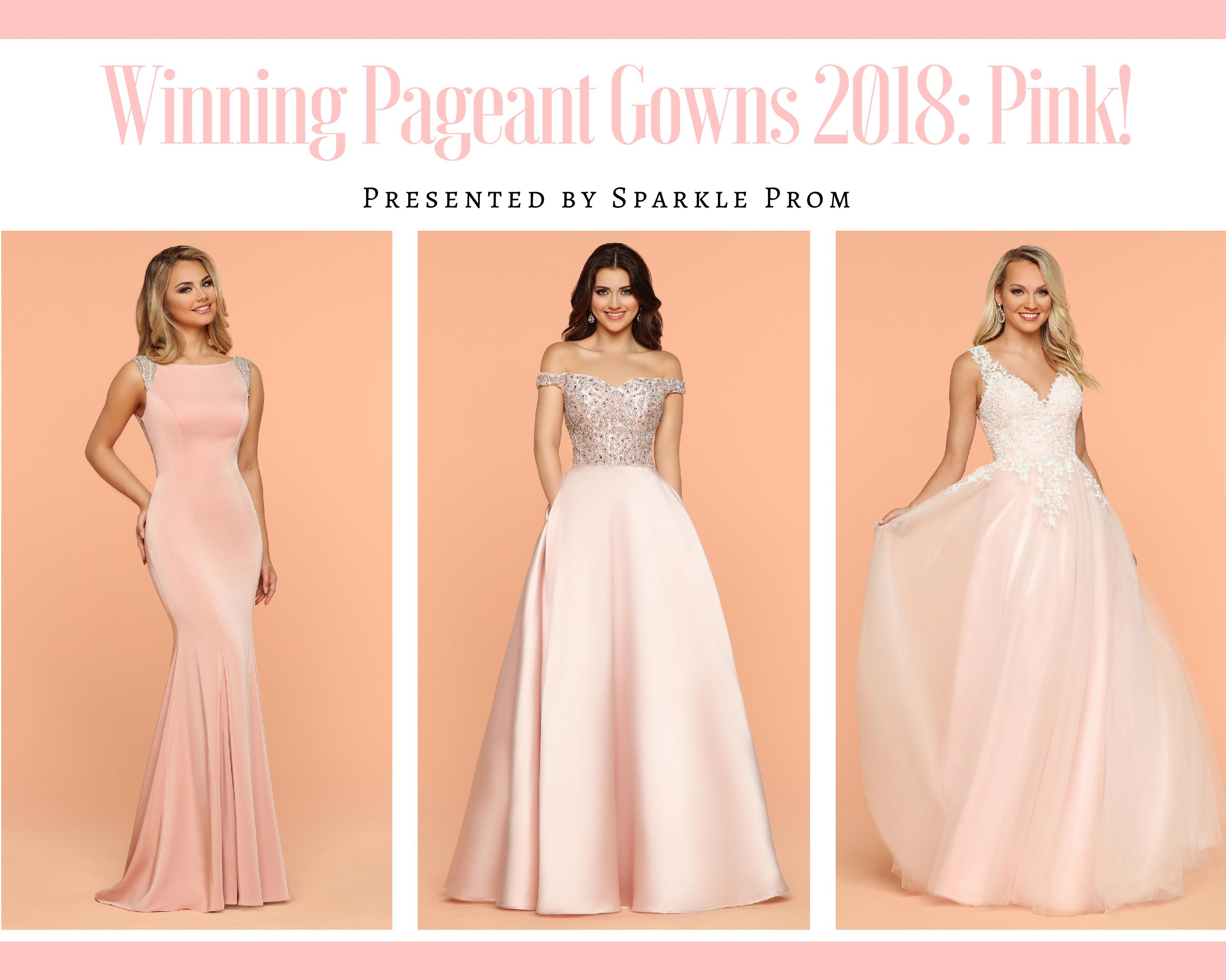 Winning Pageant Gowns 2018: Pink Prom Gowns by Sparkle Prom
