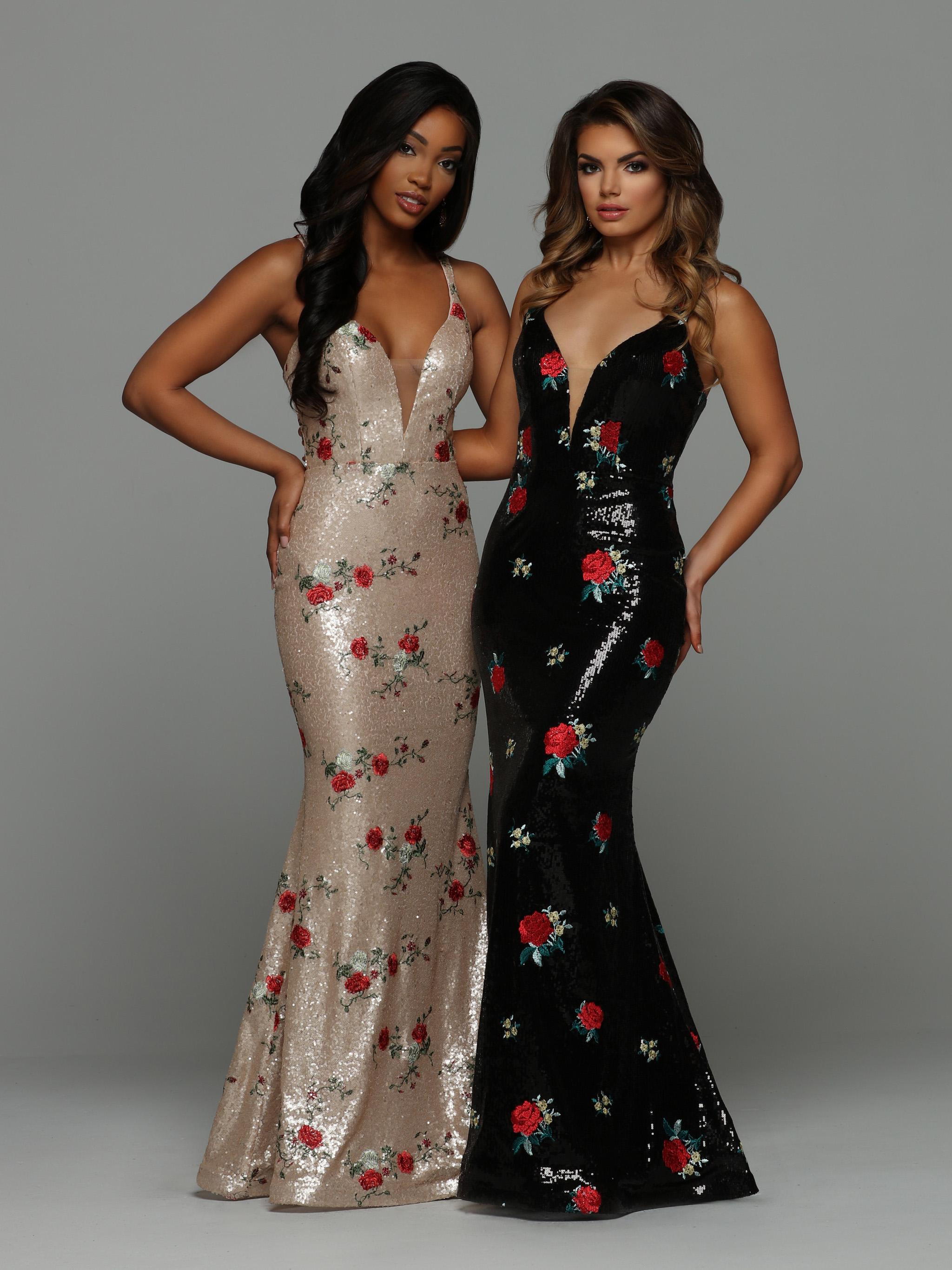 Top Prom Dress Trends 2019 Floral Prom Dresses Sparkle
