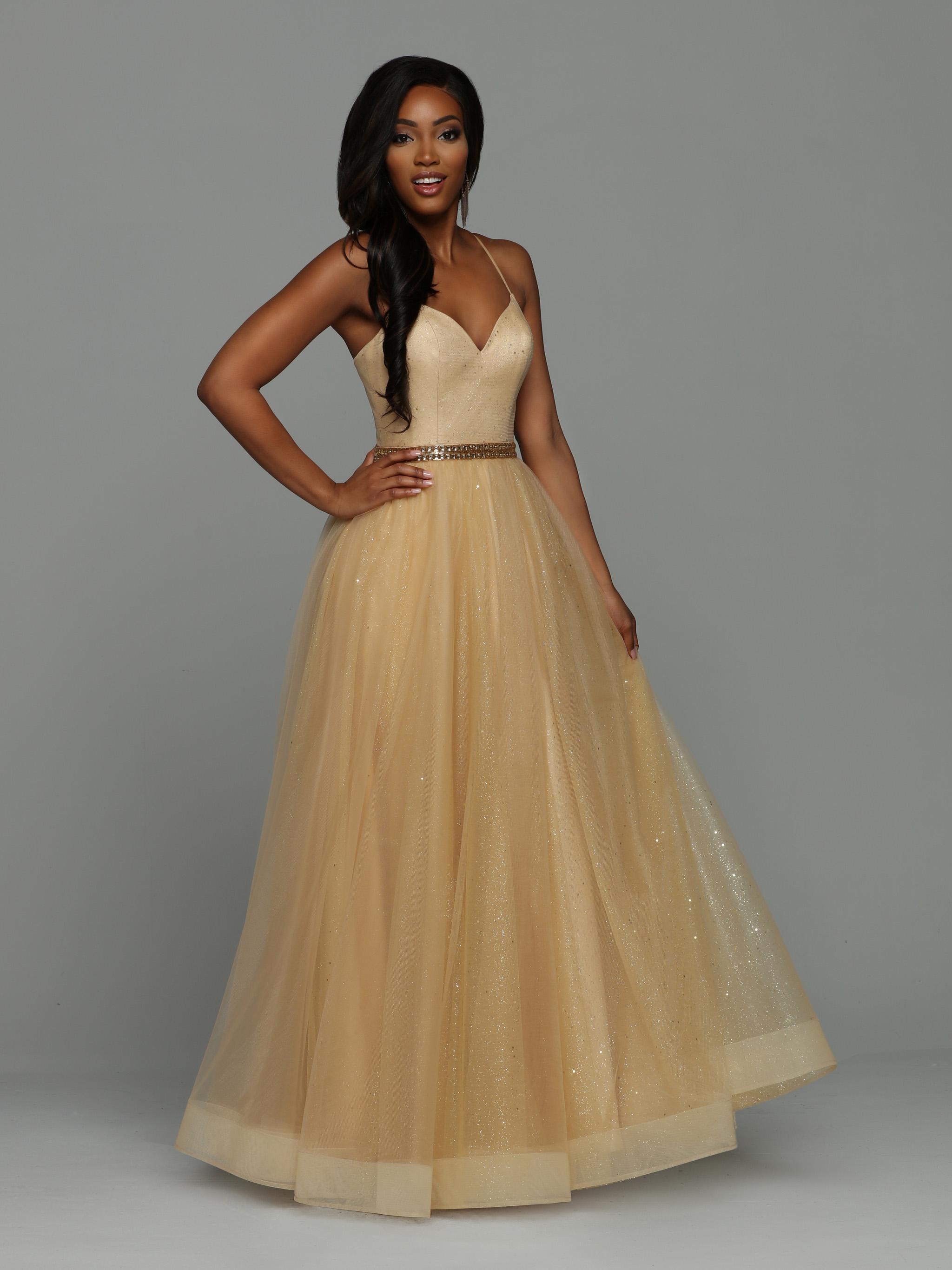 9b7d024902bb83 NEW for 2019! Style #71972: Glitter Tulle Ball Gown, Sweetheart Neckline,  Spaghetti Straps, Beaded Waistband
