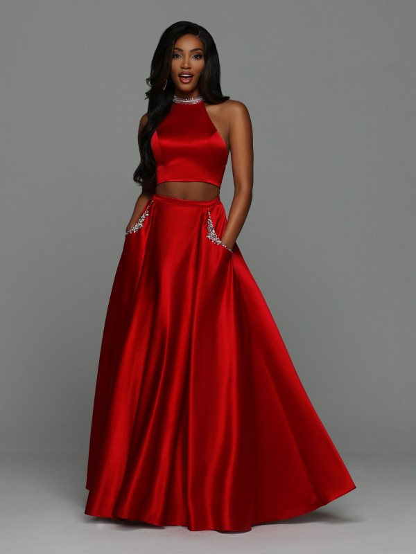 0e4dd3e3176e NEW for 2019! Sparkle Prom Style #72004: Two Piece Satin Ball Gown Prom  Dress with Modest High Neck Halter Top. Cutout Arms with Racer Back, Beaded  Neckband ...