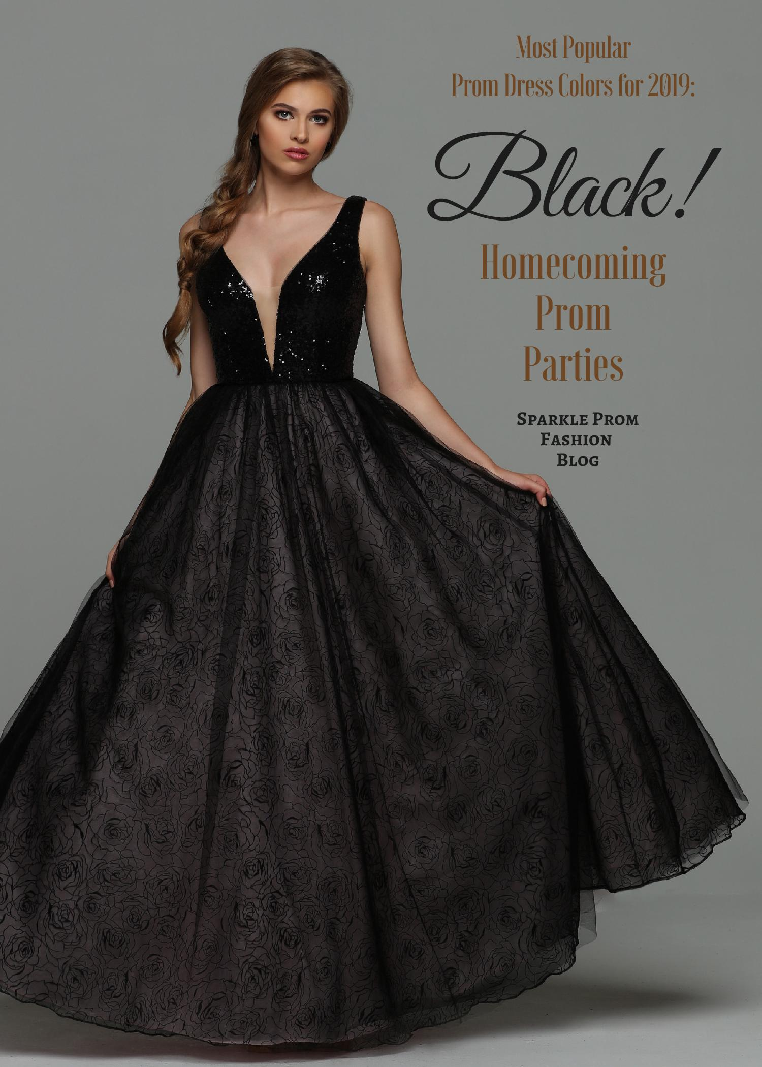 Most Popular Prom Dress Colors for 2019 Black Prom Dresses – Sparkle Prom Fashion Blog