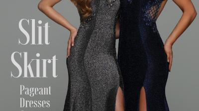 Designer Pageant Dresses & Evening Gowns Slit Skirts – Sparkle Prom Fashion Blog