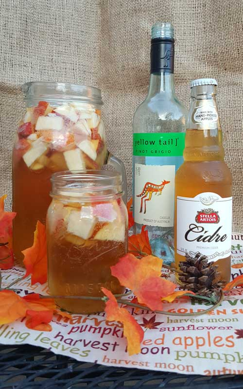 Crisp fall flavors compliment each other in this Autumn Hard Apple Cider Sangria. If your planning a fall party this would be an easy and tasty crowd pleaser.