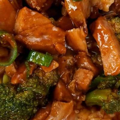 Roast Pork and Garlic Sauce Using Leftover Pork Roast