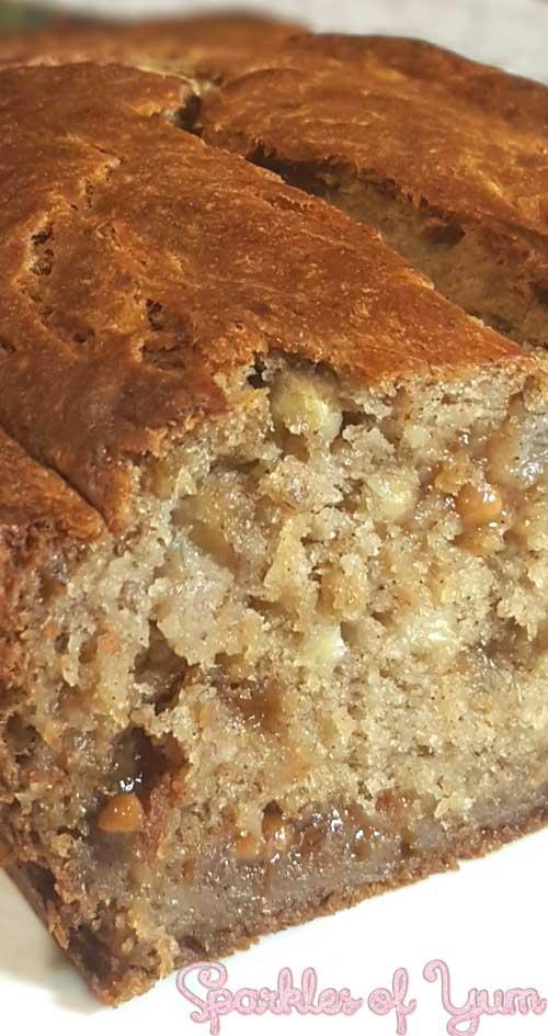 Pumpkin Spice Caramel Banana Bread