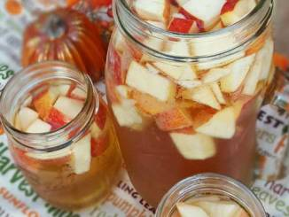 Crisp fall flavors compliment each other in this Autumn Hard Apple Cider Sangria.